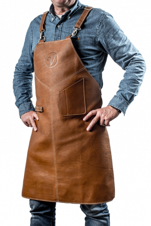 Premium Leather Apron Cognac