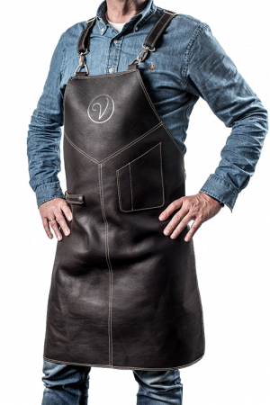 Premium Leather Apron Ebano