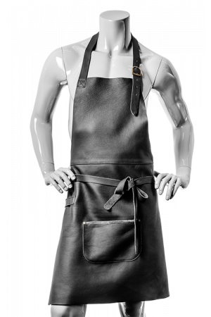 DeLuxe Leather Apron Black