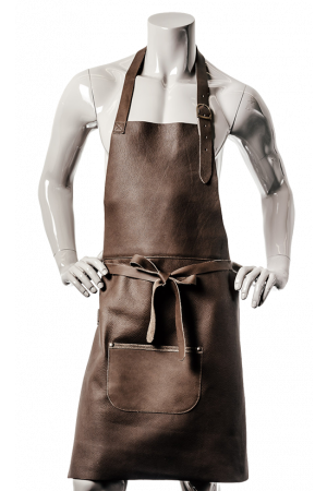 DeLuxe Leather Apron Brown