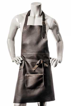 DeLuxe Leather Apron Dark Brown