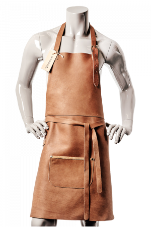 DeLuxe Leather Apron Cognac