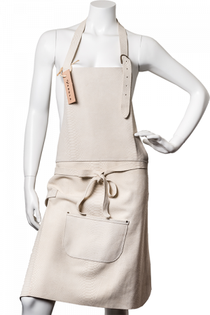 DeLuxe Leather Apron Creme