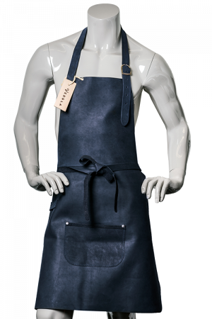 DeLuxe Leather Apron Deep Blue