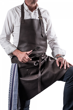 DeLuxe Leather Apron Dark Brown Dad