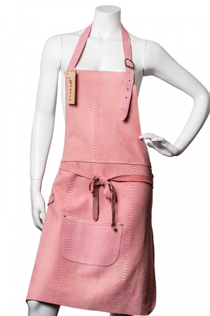 DeLuxe Leather Apron Pink