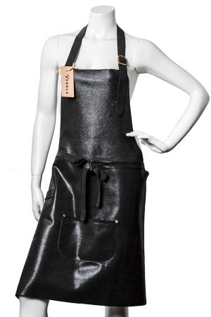 DeLuxe Leather Apron Shiny black
