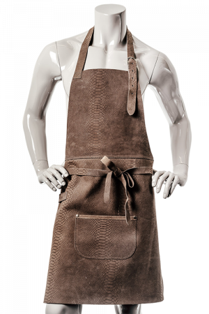 DeLuxe Leather Apron Brown Snake