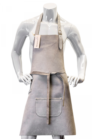 DeLuxe Leather Apron Grey