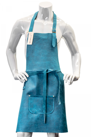 DeLuxe Leather Apron Blue
