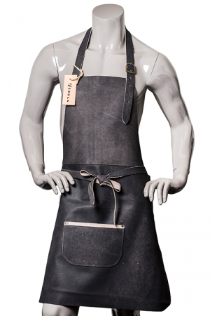 DeLuxe Leather Apron Black-G